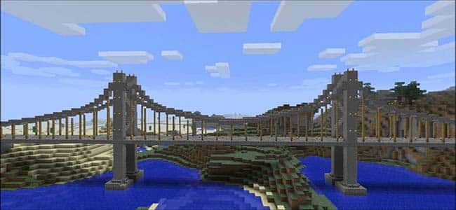 Building a Suspension Bridge in Minecraft
