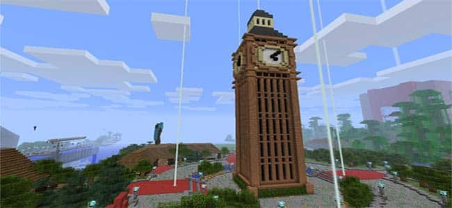 Clock Tower Big Ben in Minecraft