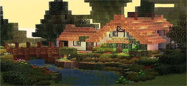 Cool Minecraft Cottage on River