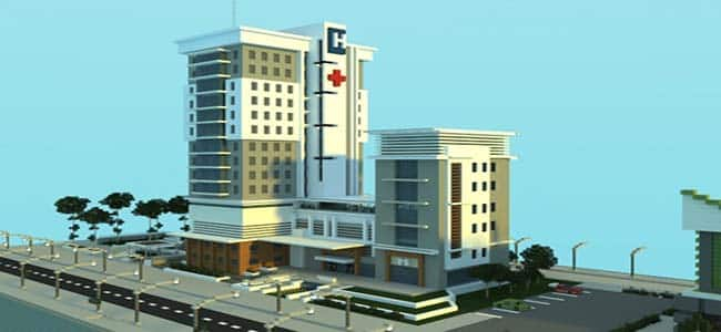 Cool City Hospital in Minecraft