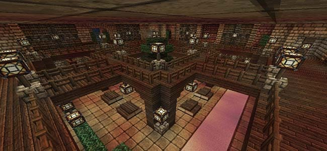 Cool Library Build in Minecraft