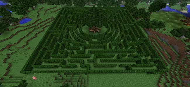 Minecraft Hedge Garden Maze