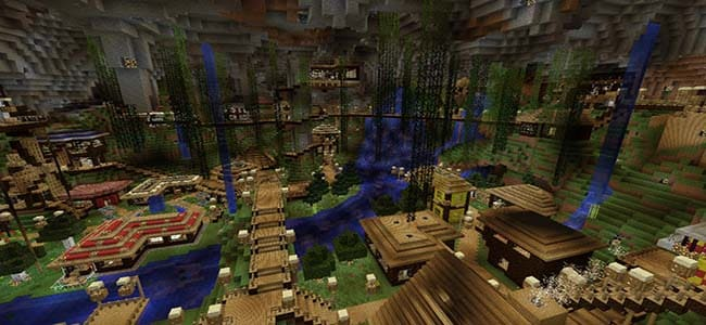 Underground City in Minecraft