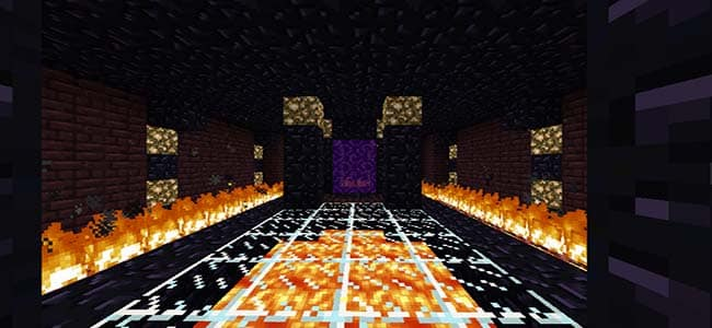 Small Nether Portal Room