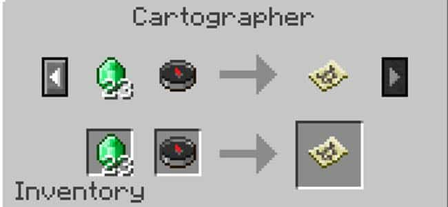 Cartographer Trading in Minecraft