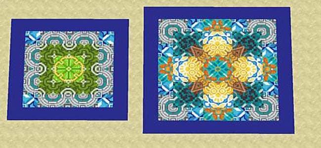Combining Glazed Terracotta Patterns in Minecraft