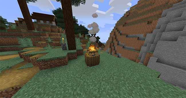 minecraft village campfire 1.14 update