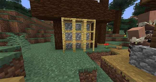 Minecraft Scaffolding in 1.14 Village and Pillage Update