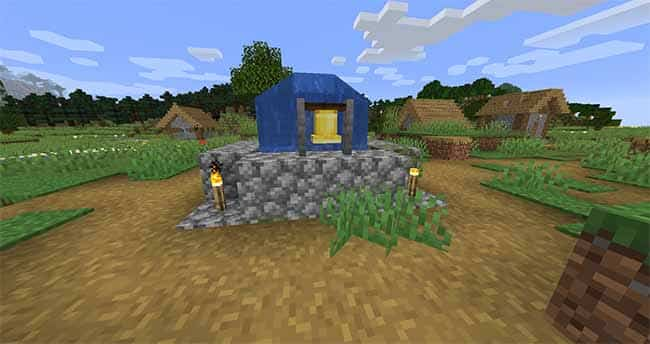 minecraft village bell village and pillage