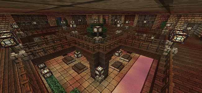 Wooden Minecraft Library