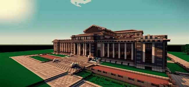 Large Minecraft Library Exterior