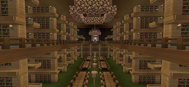 Tall Minecraft Library