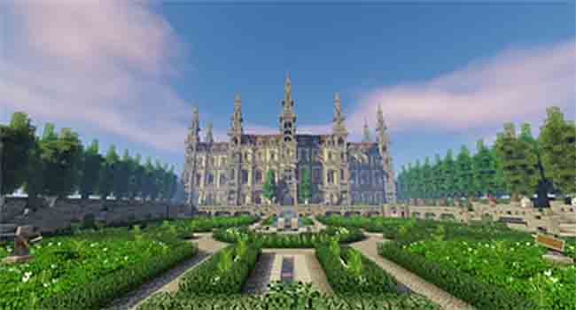 french castle in minecraft