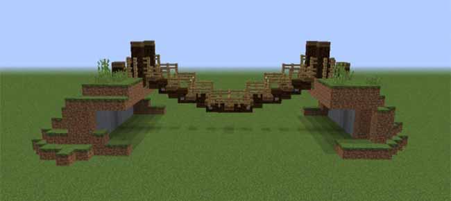 rope bridge in minecraft