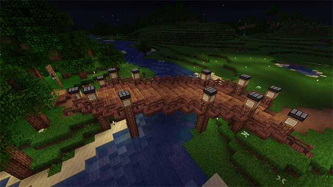 wood minecraft bridge