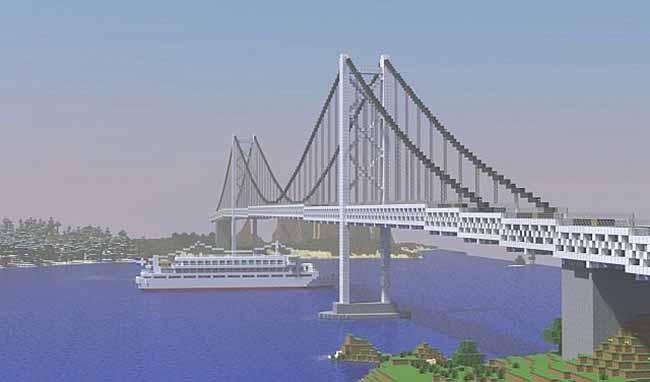 large suspension bridge
