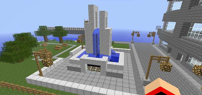 Modern Minecraft Fountain